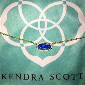 Kendra Scott Elisa Necklace - Royal Blue Opal/Gold